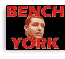 Bench York Canvas Print