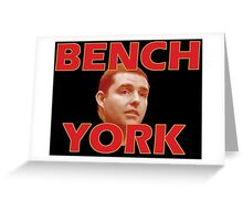 Bench York Greeting Card