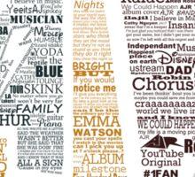 AJR typography - Default Colours Sticker