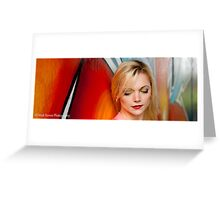 Amber Graffiti Greeting Card