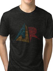 AJR typography - Brighter Default Colours Tri-blend T-Shirt