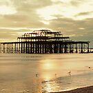 Gold Afternoon West Pier Brighton by ReidOriginals