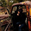Self Portrait, Abandoned Car by MJD Photography  Portraits and Abandoned Ruins