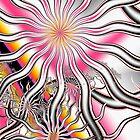 Funky Flower Rays  by Beatriz  Cruz