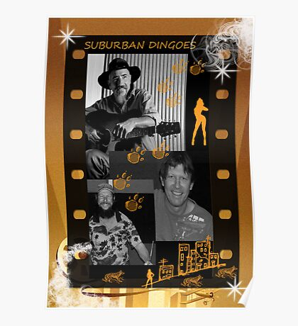 SUBURBAN DINGOES-BAND POSTER Poster