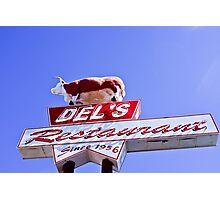 Restaurant Sign in Tucumcari Photographic Print