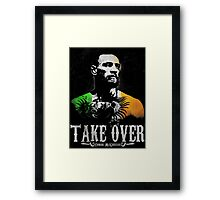 "Conor McGregor ""Take Over"" Framed Print"