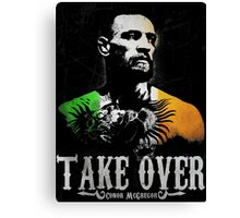 "Conor McGregor ""Take Over"" Canvas Print"