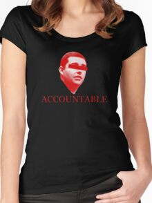 Not Accountable Women's Fitted Scoop T-Shirt