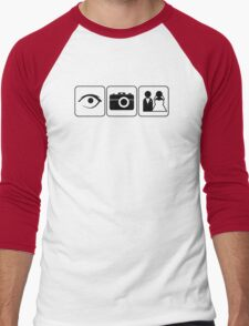 I Photograph Weddings Men's Baseball ¾ T-Shirt