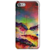 ITS A ROSE COLORED LIFE 4 Floral Rainbow Red Blue Yellow Green Flowers Abstract Acrylic Painting Fine Art iPhone Case/Skin