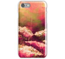ITS A ROSE COLORED LIFE Floral Hot Pink Marsala Olive Green Flowers Abstract Acrylic Painting Fine Art iPhone Case/Skin