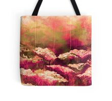 ITS A ROSE COLORED LIFE Floral Hot Pink Marsala Olive Green Flowers Abstract Acrylic Painting Fine Art Tote Bag