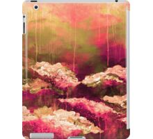 ITS A ROSE COLORED LIFE Floral Hot Pink Marsala Olive Green Flowers Abstract Acrylic Painting Fine Art iPad Case/Skin