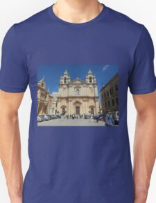 St Paul's Cathedral - Mdina Malta Unisex T-Shirt