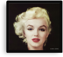 Marilyn in Oil Canvas Print