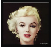 Marilyn in Oil Photographic Print
