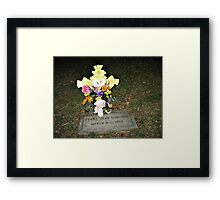 My Baby Sister's Grave - Remembering Her on Her BD Framed Print