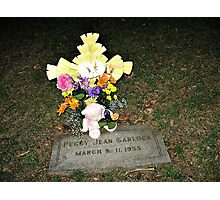My Baby Sister's Grave - Remembering Her on Her BD Photographic Print