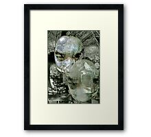 Futurist Portrait (untitled). Framed Print