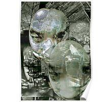 Futurist Portrait (untitled). Poster
