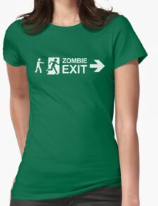 Zombie Exit Womens Fitted T-Shirt