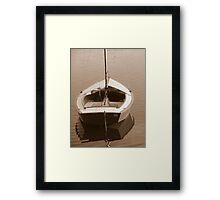 Boat in sepia Framed Print