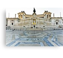 Monument to Vittorio Emanuele II Canvas Print