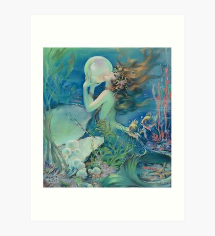 The Mermaid by Henry Clive Art Print