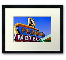 Route 66 Palomino Motel Framed Print