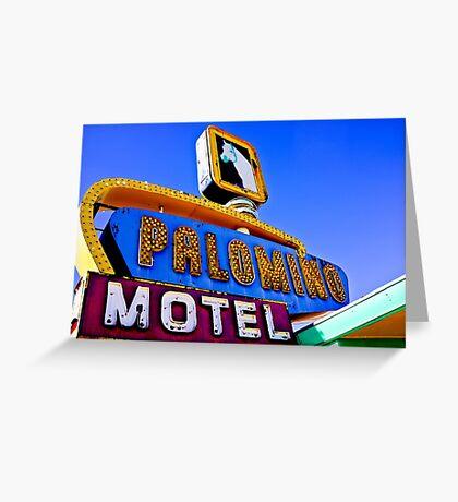 Route 66 Palomino Motel Greeting Card