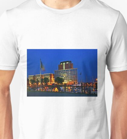 Hamburg Harbour Night Unisex T-Shirt