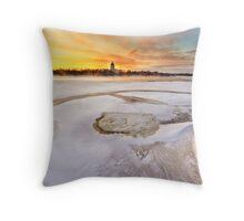 Wascana lake freezing Throw Pillow