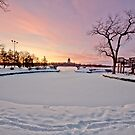 Frozen lake by derejeb