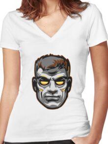 GOD MODE HEAD Women's Fitted V-Neck T-Shirt