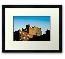 NYC Building Water Towers Framed Print
