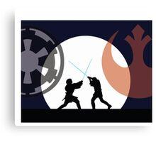 Jedi v Sith Canvas Print