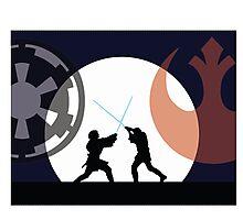Jedi v Sith Photographic Print