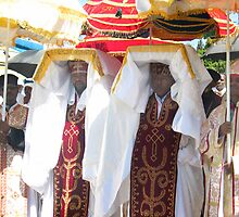 Priests carrying the Tabot during Timket Celebrations by derejeb