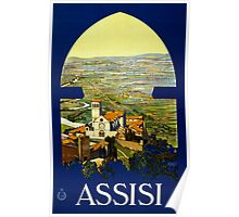 Vintage Assisi Italy Travel Poster