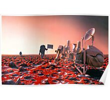 Concept Art of Future Manned Mars Mission Poster