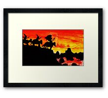Native American Indians, Looking over Valley Framed Print