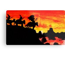 Native American Indians, Looking over Valley Metal Print