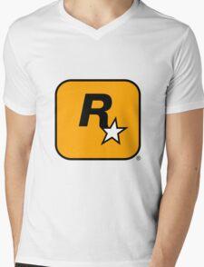 Rockstar Games : Logo Mens V-Neck T-Shirt