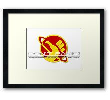 Hitchhiker's Guide Space Age Framed Print