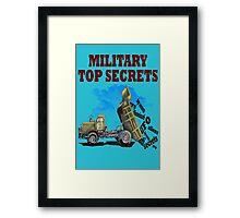 Military top secrets ufo aliens  Framed Print