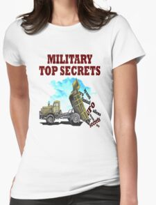 Military top secrets ufo aliens  Womens Fitted T-Shirt