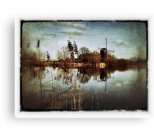 Old Dutch Master Style Windmill Canvas Print