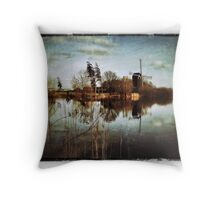Old Dutch Master Style Windmill Throw Pillow