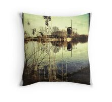 Windmill & Reeds Throw Pillow